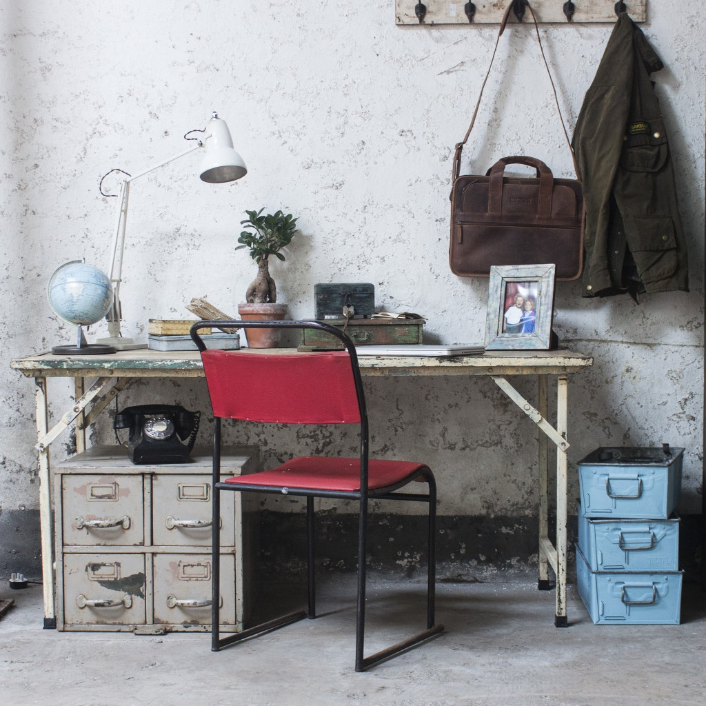A vintage industrial inspired office / workspace