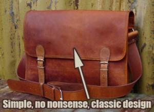 A Classic Scaramanga Leather Satchel