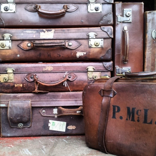 Vintage & Antique Leather Suitcases Used 6 Different Ways