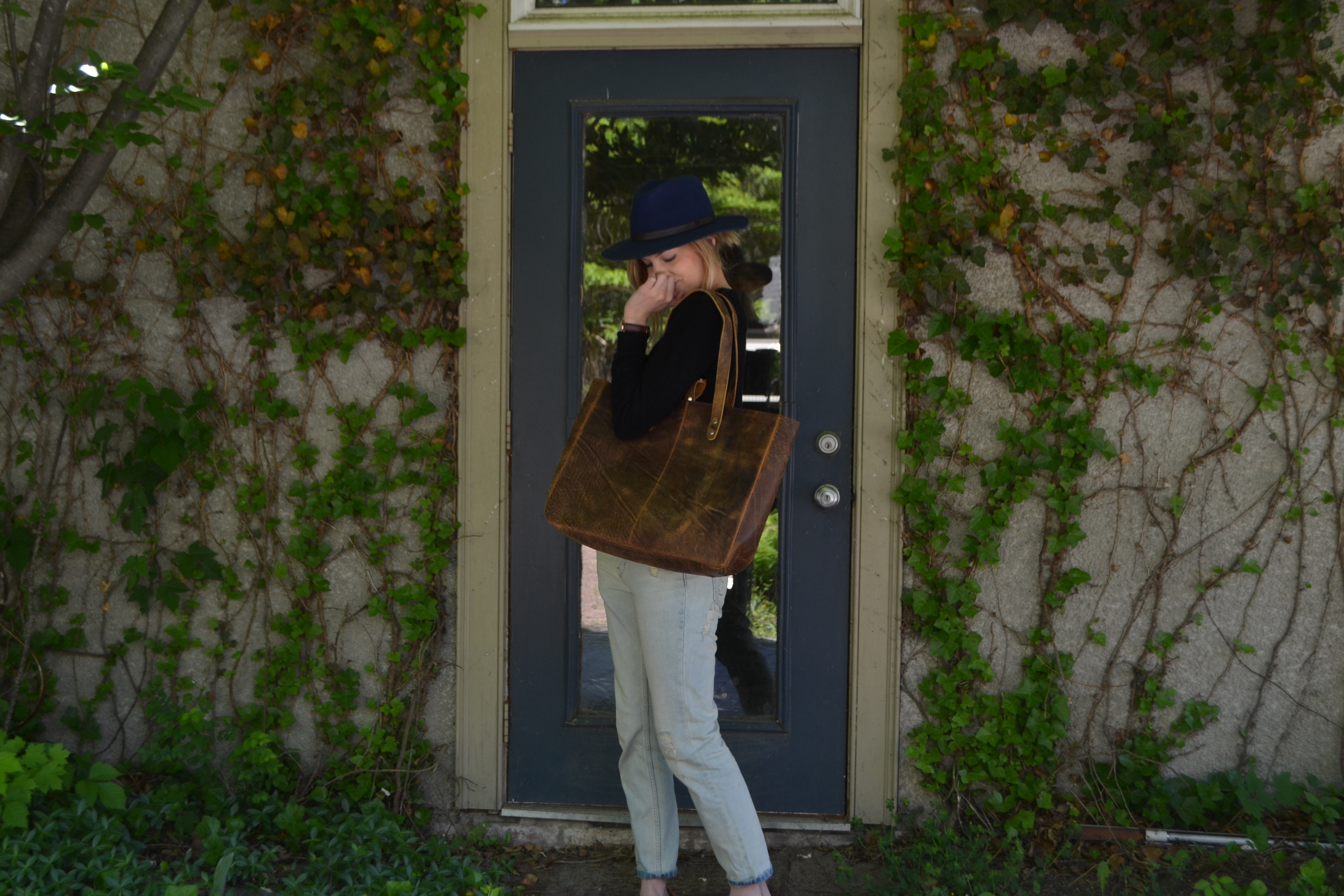 leather tote bag #myscaramanga