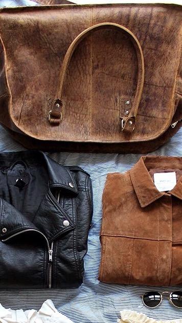 leather travel bag #myscaramanga