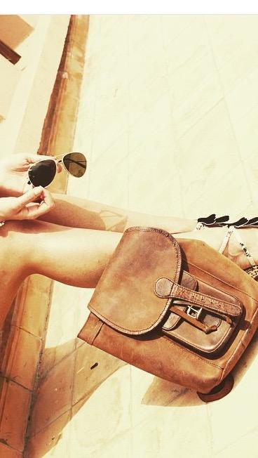 leather backpack #myscaramanga