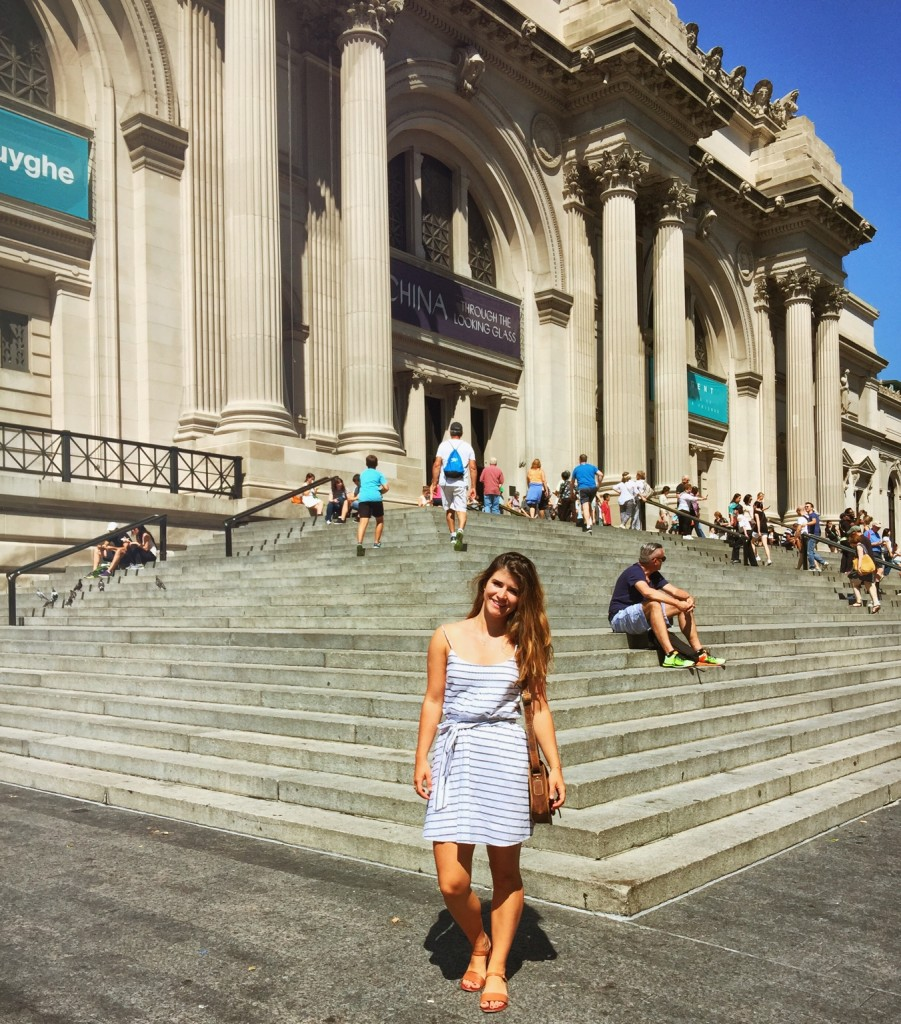 Cait channeling her inner Blair Waldorf on the steps of the MET