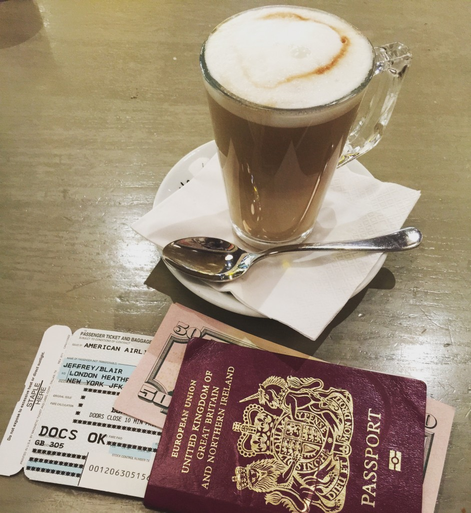 Passport? Check. Boarding Pass? Check. Cash? Check. Caffeinated? Definitely Check.