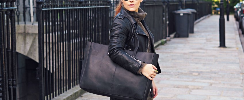 New Black Leather Bags Here For A/W 15 | Scaramanga
