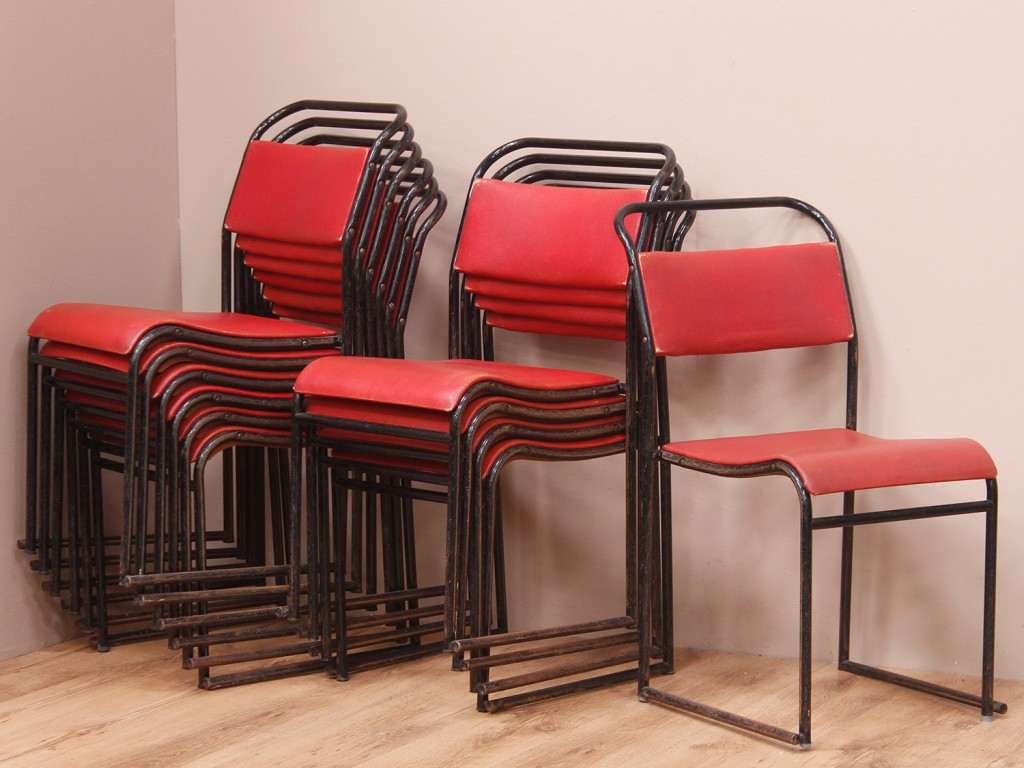 mid century stacking chairs