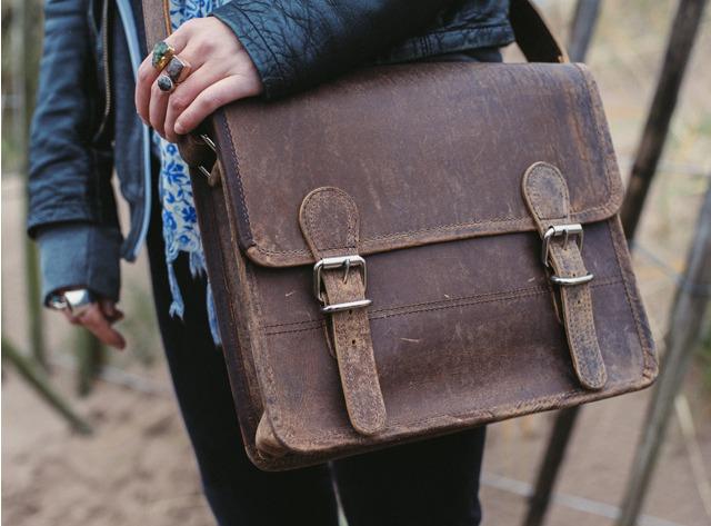 Mini Leather Satchel 11-Inch, £55
