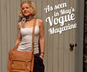 Our Medium Wide Leather Satchel, as seen in May's Vogue