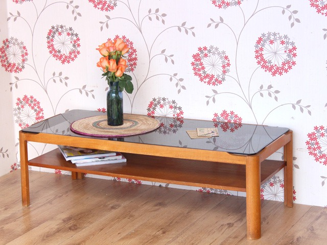 Retro Myers Glass Coffee Table, £135