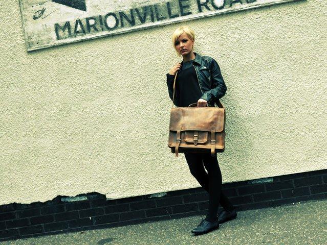 Large Leather Overlander Bag, £135