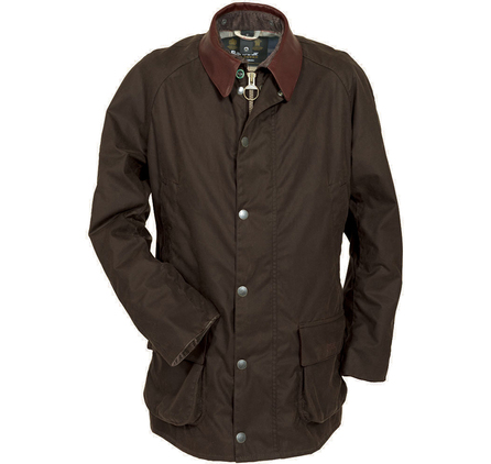 Carraw Waxed Jacket in 'Olive' - £299 at www.barbour.com