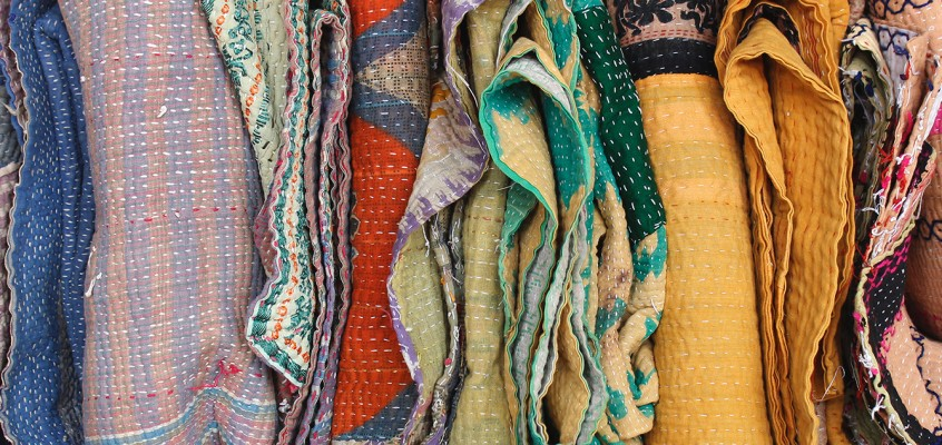Vintage Kantha Quilts Available Now at Scaramanga