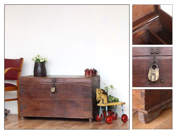 Antique teak chest (£365)