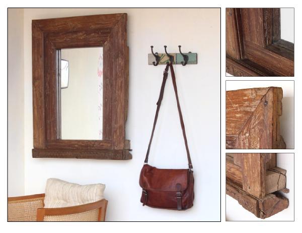 Antique reclaimed window mirror (£275)