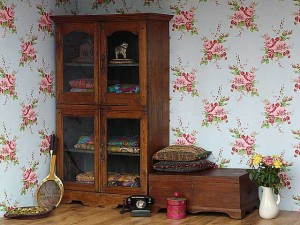 An antique vintage cupboard with glass pannelling - good for a display cabinet
