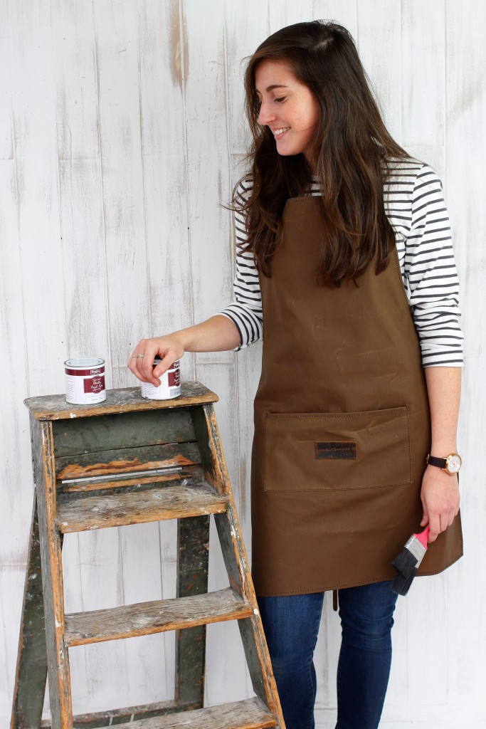 leather and canvas apron