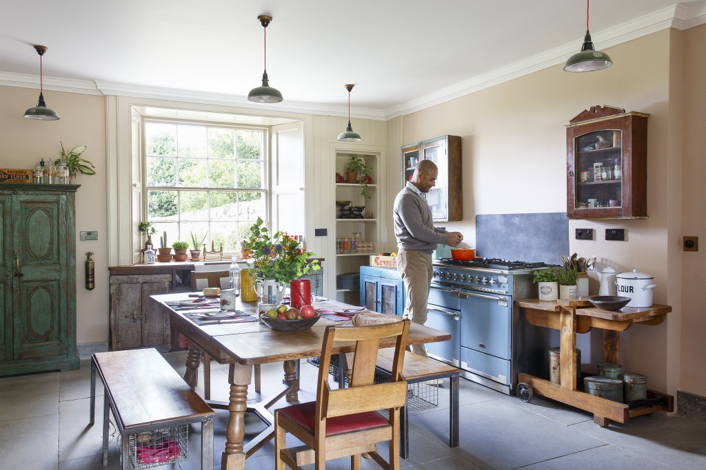 scaramanga colourful vintage kitchen furniture