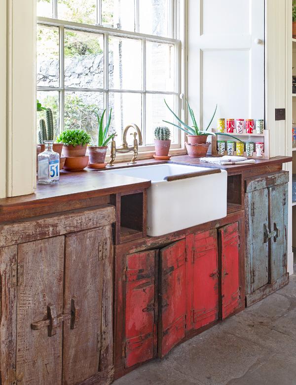 vintage Belfast sink cupboard storage unit