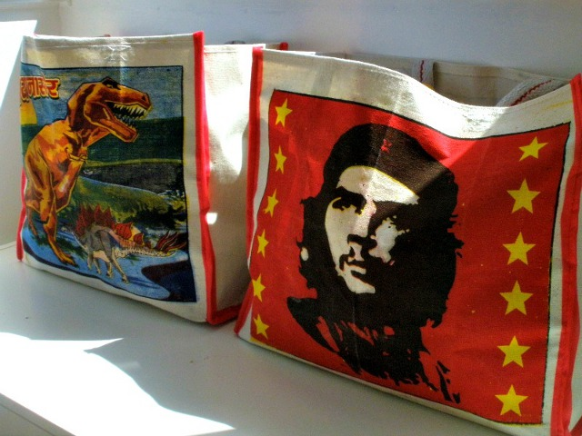 Che Canvas Bag and T-Rex Canvas Bag by Scaramanga, £4.50