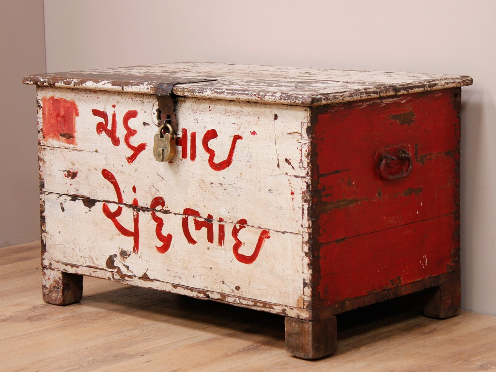 Old red chest