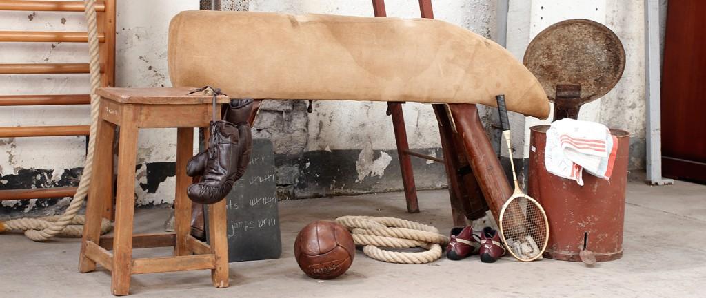 old school climbing rope gym furniture by scaramanga