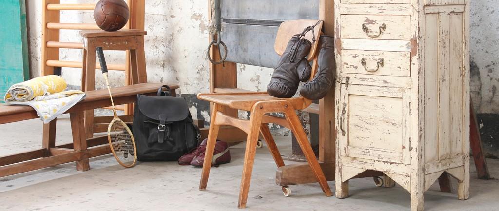 vintage industrial gym furniture