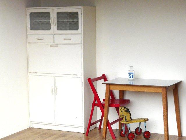 White Wooden Vintage Kitchen Unit, £350
