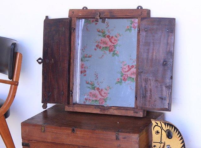 Vintage Wooden Window-Frame Mirror, £140