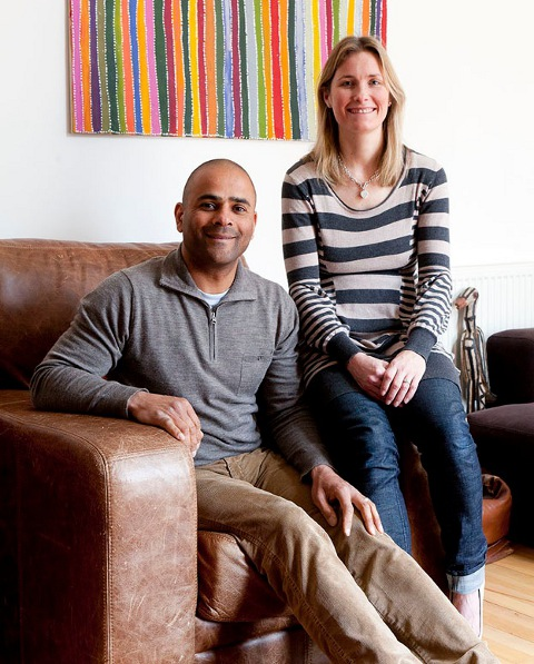 Scaramanga Founder, Carl Morenikeji with Wife Emma