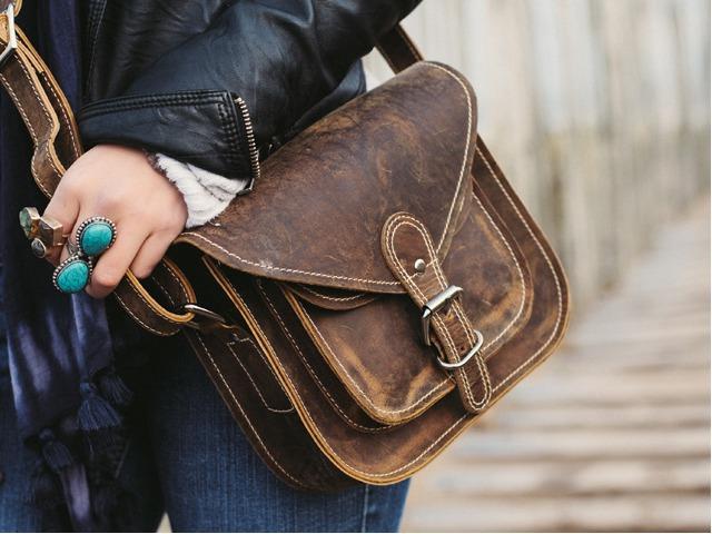 9 Inch Leather Saddle Bag, £42