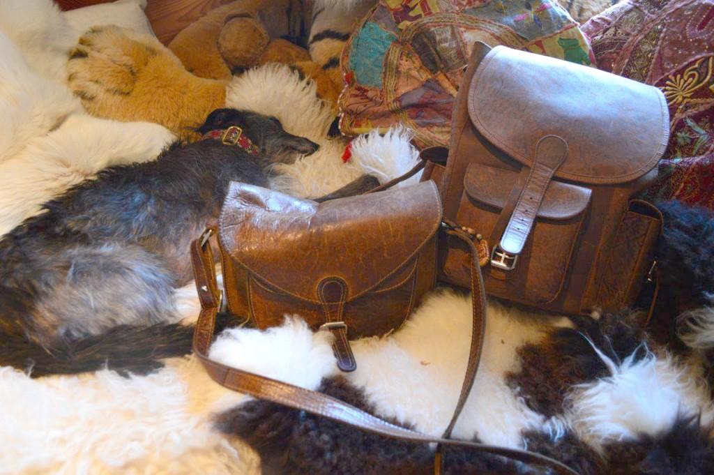 Jackie's two Scaramanga Leather Bag
