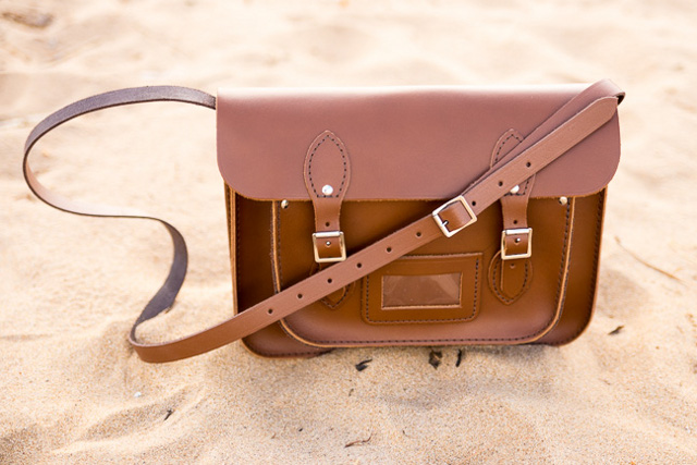 13 Inch Brown Leather Satchel, £80