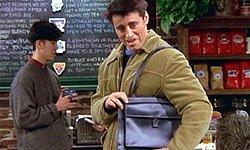 Joey with his 'Man Bag'