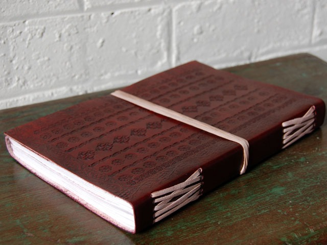 Extra Large Embossed Leather Sketchbook, £32.50