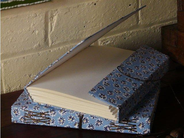 Cool Blue Fabric Sketchbook, £17.50