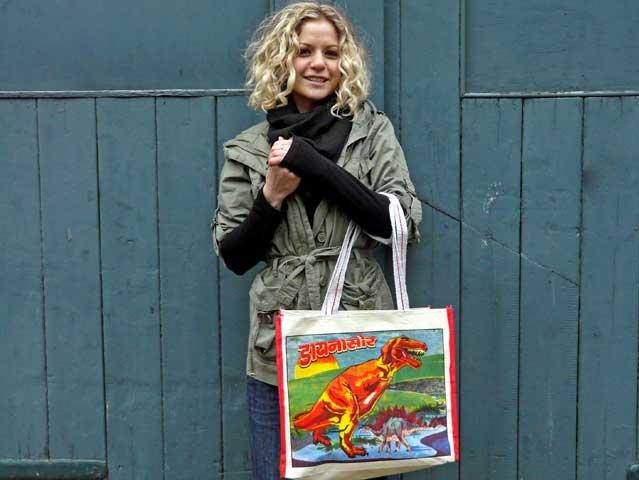 T-Rex Pop Art Canvas Bag, £4.50