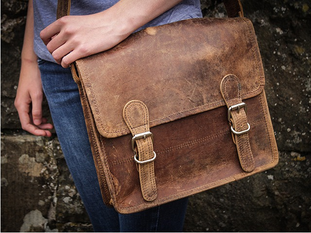 11 Inch Leather Satchel, £47.50