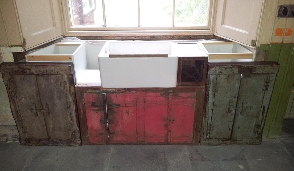 DIY making a Belfast sink cupboard unit