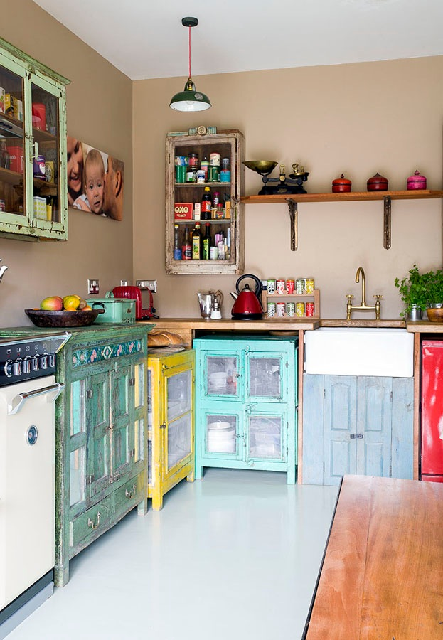 vintage cupboards and cabinets