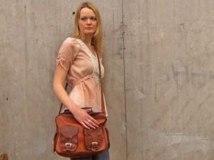 Scaramanga's Vintage Leather Flight Bag