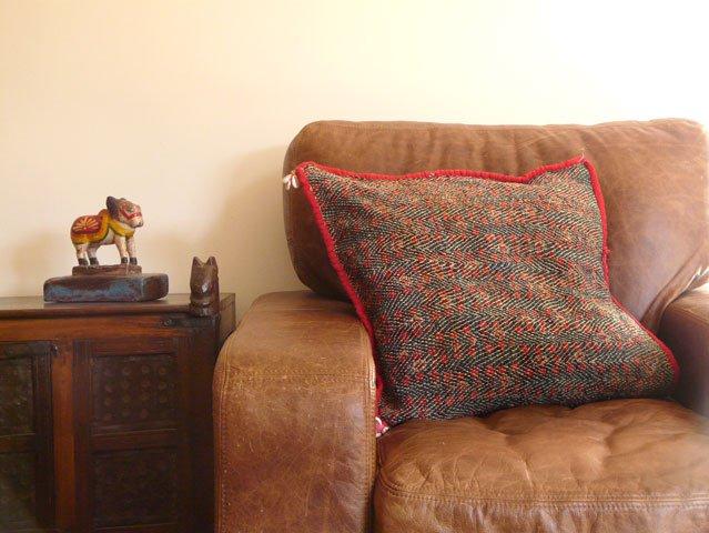 Vintage Embroidered Banjara Cushion, £90