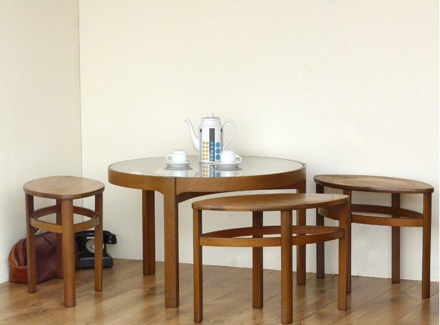 Retro Teak Tables by Nathan, £175