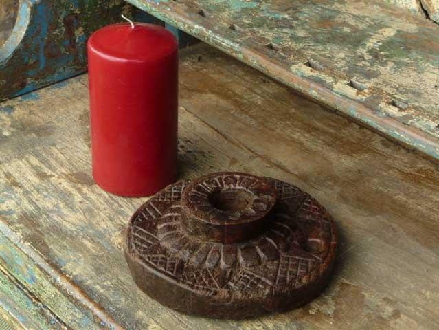 Vintage Hand Carved Candleholder, £20