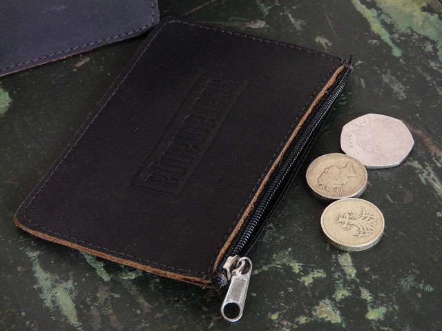 Dark Brown Leather Coin Pouch, £2.75