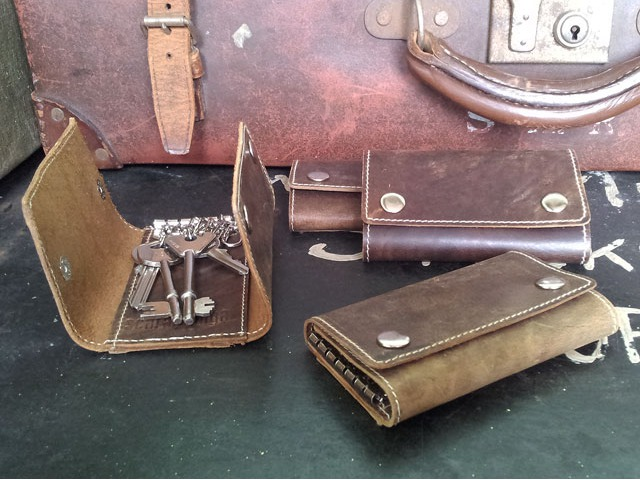 Leather Keyring Case, £10