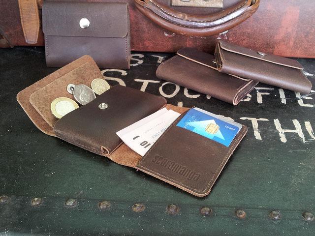 Men's Mini Brown Leather Wallet, £15