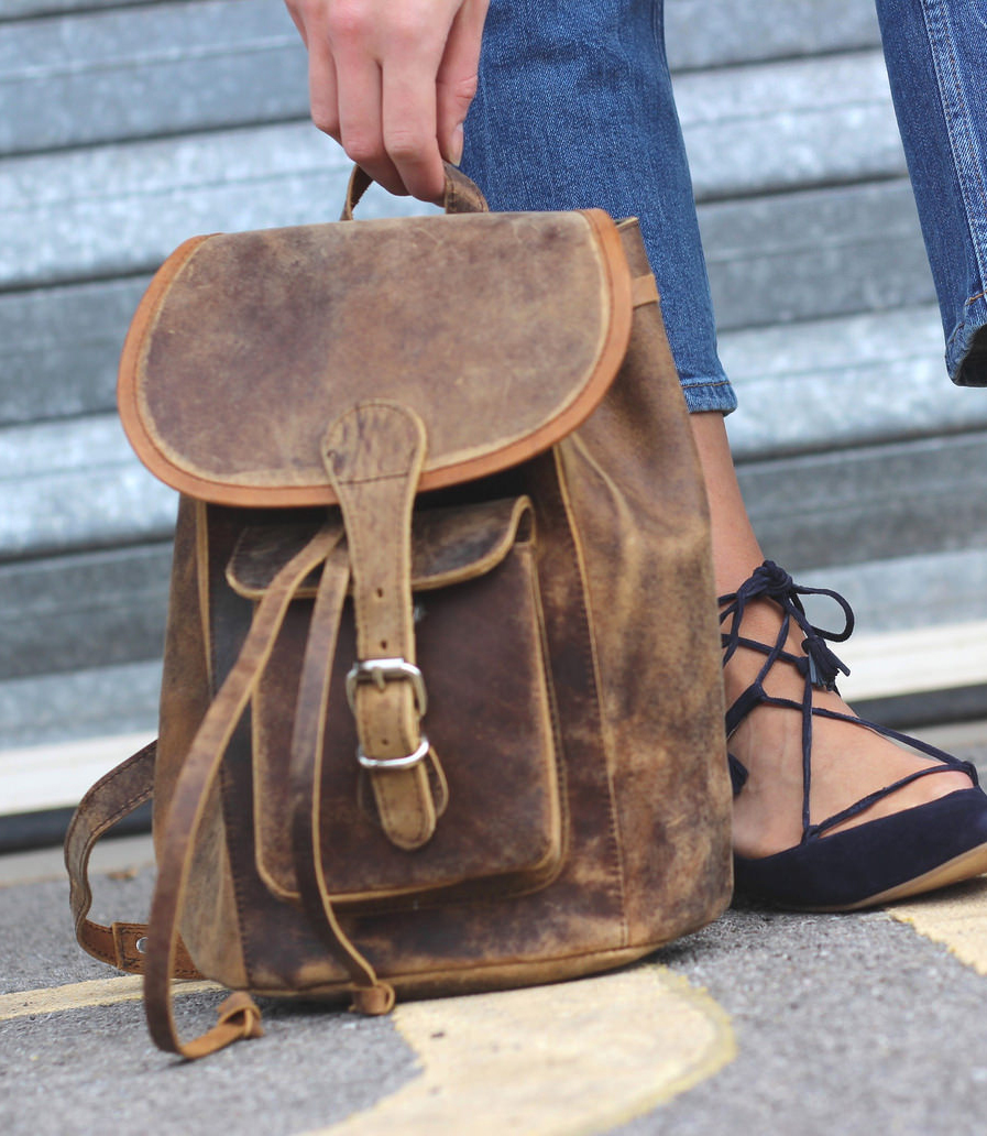 scaramanga leather backpack #myscaramanga