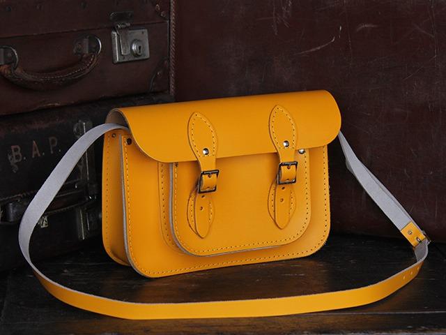 11 Inch Yellow Leather Satchel, £70