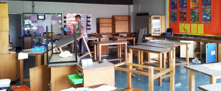 Vintage & Old School Furniture: Scaramanga's School Salvage Mission
