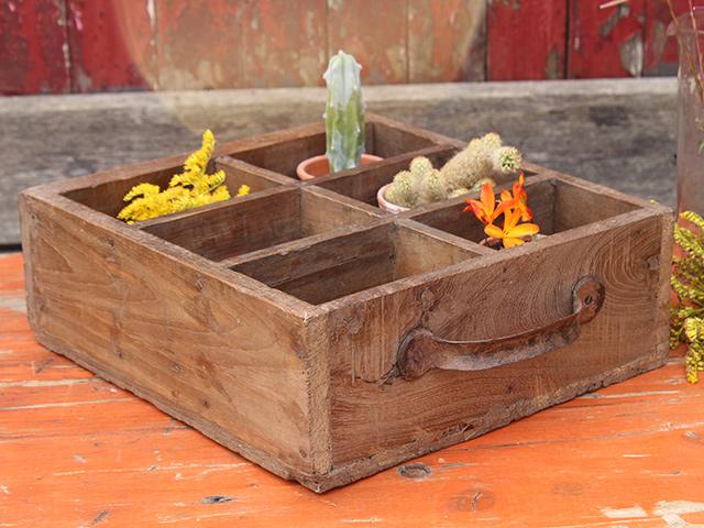 Vintage solid teak drawers with handles